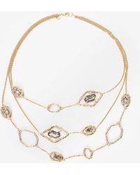 Alexis Bittar - Delano Gold Triple Strand Stone Link Necklace - Lyst