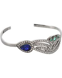 Colette - Diamond Feather Cuff Bracelet - Lyst