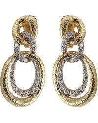 David Webb | Diamond Triple Hoop Earrings | Lyst