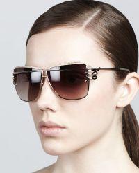 Roberto Cavalli Futuristic Serpenttemple Sunglasses Rose Golden - Lyst