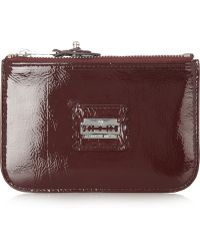 McQ by Alexander McQueen Patent Leather Coin Purse - Lyst