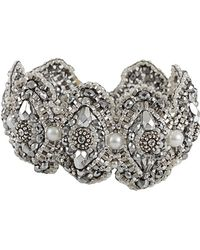 Miguel Ases - Pyrite and Pearl Beaded Bracelet - Lyst