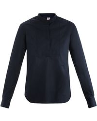 E. Tautz - Bib Front Cotton Shirt - Lyst