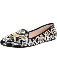 House Of Harlow 1960 Marion Beaded Flat Moccasins - Lyst