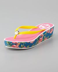 Juicy Couture - Isabelle Rubber Wedge Flip Flop - Lyst