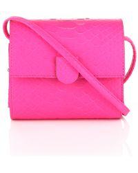 Nina Peter Python Box Bag pink - Lyst