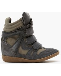 Nasty Gal Hilight Wedge Sneaker Gray - Lyst