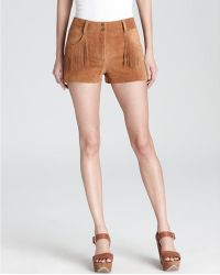 Plenty by Tracy Reese - Quotation Shorts Suede Fringe - Lyst