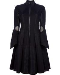 Junya Watanabe Flared Panel Coat black - Lyst