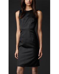 Burberry Prorsum - Fitted Silk Dress - Lyst