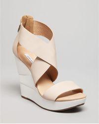 Diane von Furstenberg Platform Wedge Sandals Opal High Heel - Lyst