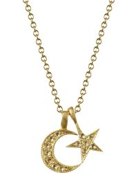 Me&Ro - Crescent Moon Star Pendant - Lyst