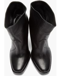 Theyskens' Theory - Leather Elerie Aova Tiered Heel Boots - Lyst