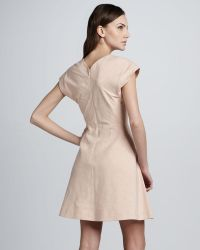 Theyskens' Theory Dabor Squareneck Linencotton Dress
