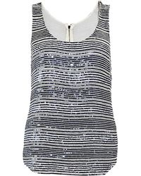Armani Striped Sequin Top - Lyst