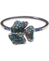 AS29 - Tourmaline Embellished Flower Ring - Lyst