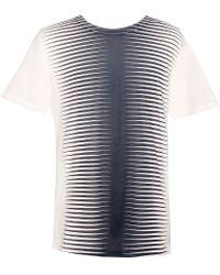 Balenciaga  Optic Stripes Short Sleeves T-Shirt  - Lyst
