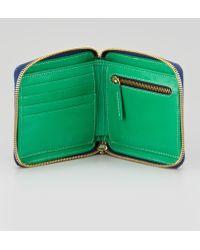 Clare V. - Basketweave Leather Halfzip Wallet - Lyst