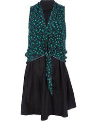 Sacaporter - Reversible Silk Dress - Lyst