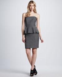 Shoshanna Natalya Strapless Peplum Dress - Lyst