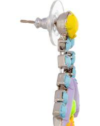 Tom Binns - Soft Power Painted Swarovski Crystal Earrings - Lyst