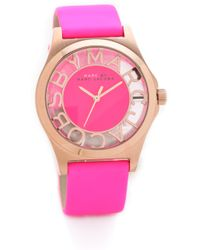 Marc By Marc Jacobs Henry Skeleton Leather Watch - Lyst