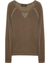 Rag & Bone Metallic Knitted Sweater - Lyst