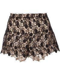 Versace Patterned Lace Shorts black - Lyst