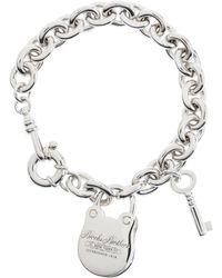"Brooks Brothers 7.5"" Sterling Charm Bracelet silver - Lyst"