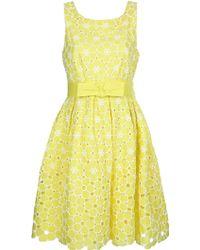 P.A.R.O.S.H. Twiggy Dress yellow - Lyst