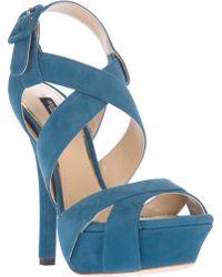 Dolce & Gabbana Platform Sandal blue - Lyst