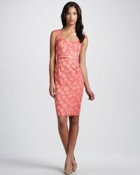 French Connection Belted Floraljacquard Dress - Lyst