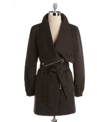 Kenneth Cole Asymmetric Trench Coat - Lyst