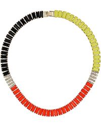 Topshop Mini Rectangle Track Necklace multicolor - Lyst