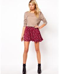 ASOS Collection Asos Skater Skirt in Hummingbird Print - Lyst