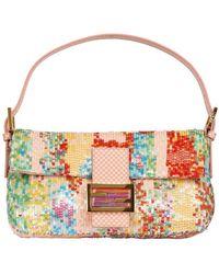 Fendi Baguette Embroidered Shoulder Bag - Lyst