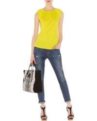 Karen Millen Georgette Back T-shirt - Lyst