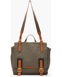 Marc By Marc Jacobs - Olive Green Canvas Leathertrimmed Hugo Messenger - Lyst