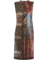 Preen By Thornton Bregazzi Snakeshell Print Sleeveless Dress - Lyst