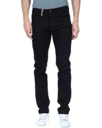 Calvin Klein Blue Denim Pants - Lyst