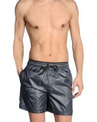 Calvin Klein Gray Swimming Trunks - Lyst