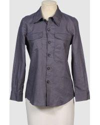 Cynthia Rowley Long Sleeve Shirt - Lyst