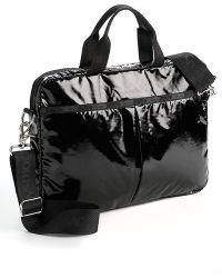 LeSportsac - Black Patent Laptop Bag - Lyst