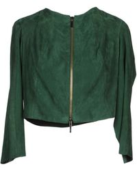 Aria Leather Outerwear - Lyst