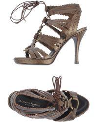Donna Karan New York Platform Sandals - Lyst