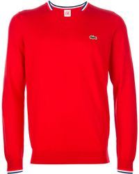 Lacoste L!ive - V Neck Pullover - Lyst