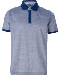 Lagerfeld - Contrast Trim Polo Shirt - Lyst