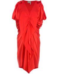 Lanvin Ruched Dress - Lyst