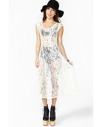 Nasty Gal Serenade Lace Maxi Dress - Lyst