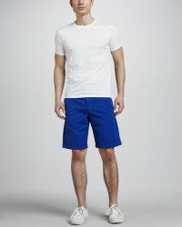 Splendid - Cotton Shorts Bright Blue - Lyst